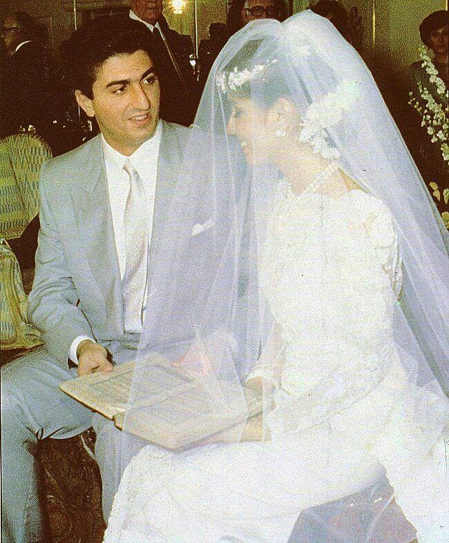 Crown Prince of Iran Reza Pahlavi and Yasmine Pahlavi mark