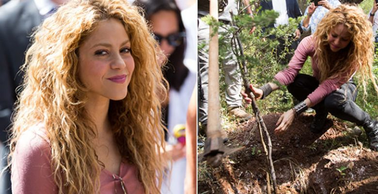Shakira paid a visit to her grandmother's village in Lebanon