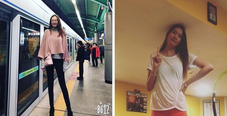 Mongolian women with world's second longest pair of legs